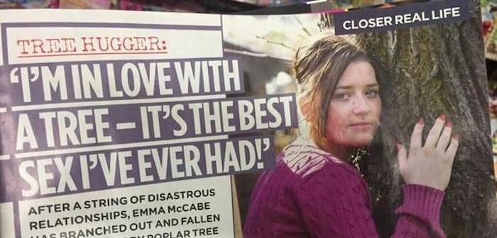 Ема Маккейб прави секс с дърво