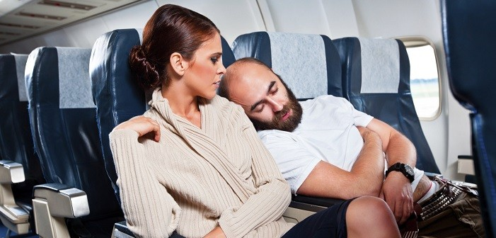 Rude passengers on the airplane