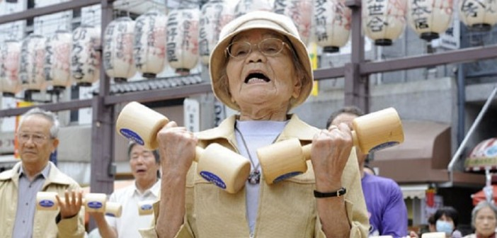 дълголетие, Япония