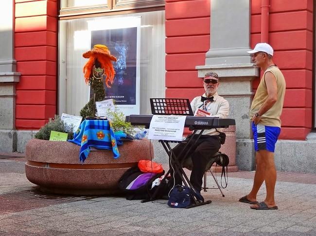 улични музиканти зонирани в Пловдив