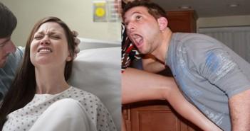 ритник в тестисите или раждане боли повече