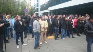 Протест пред ТВ7 и News7 в подкрепа на свободата на словото