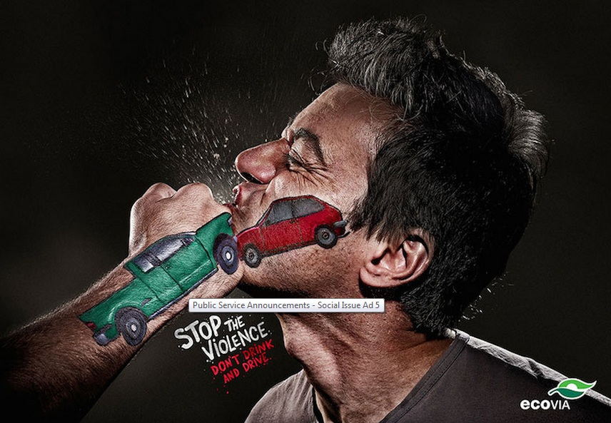 Stop the violence, don't drink and drive