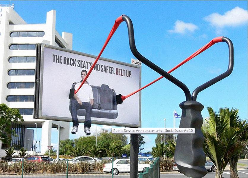 The back seat's no safer, belt up