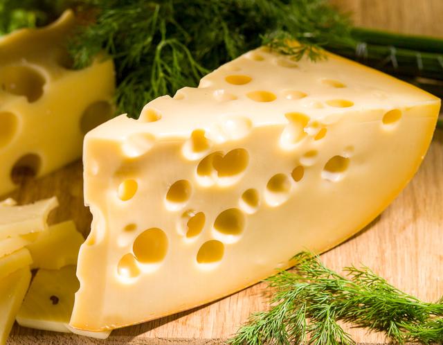 дупки по швейцарско сирене ементал
