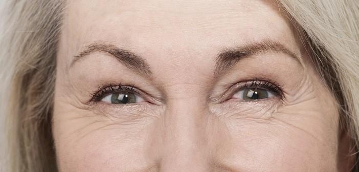бръчки, очи