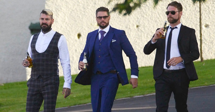 колегите на Ронан Кийтинг от Boyzone по време на сватбената церемония