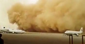Sandstorm Queen Alia Airport