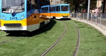 зелени релси, трамвай, София