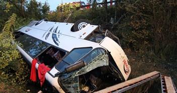 Катастрофирал автобус с българи в Германия