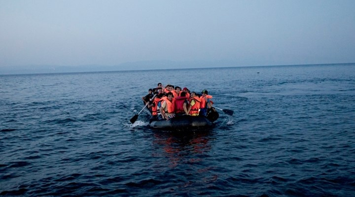 бежанци, Лесбос, дрон, лодки, мигранти