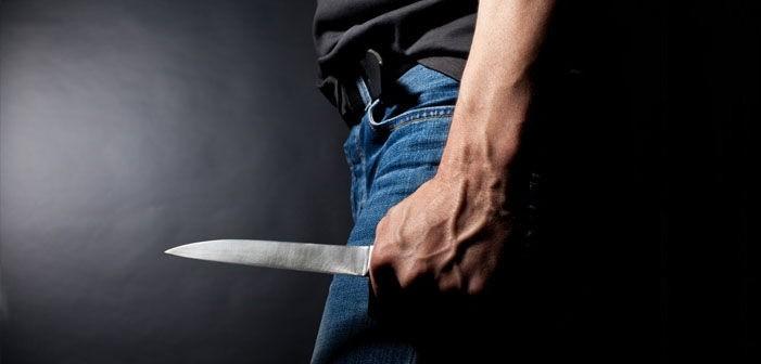 детската градина, мъж с нож