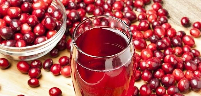 сок от червени боровинки