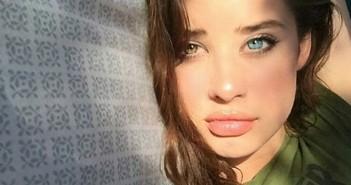 Сара Макданиел, модел, различни на цвят очи