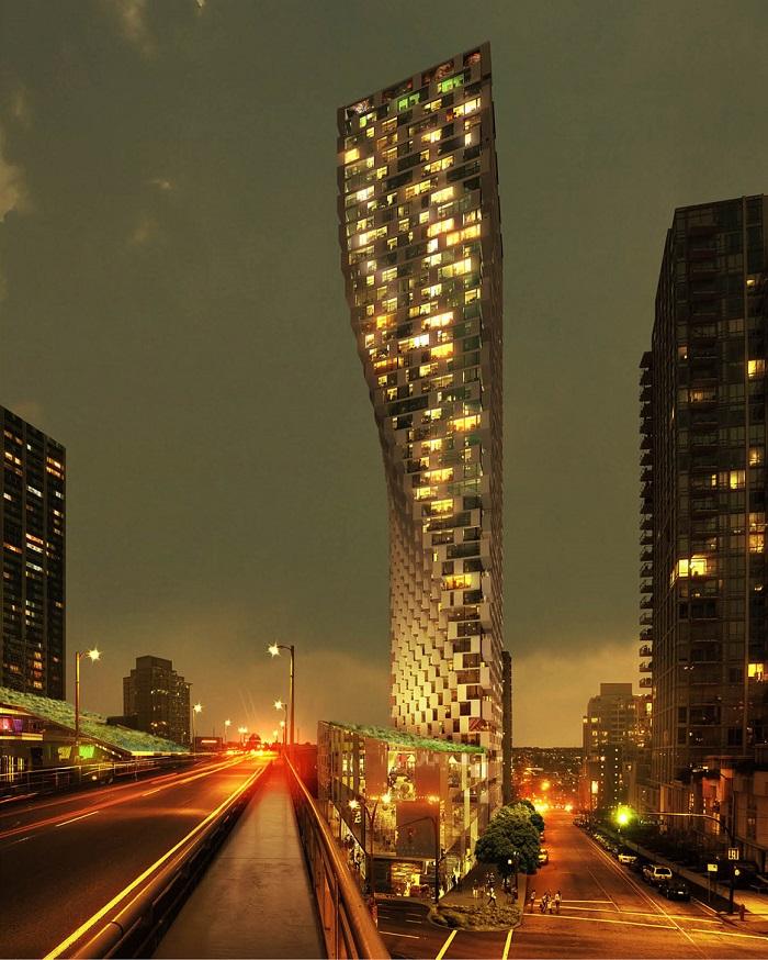 """Сграда на годината, Наградата """"Проект на бъдещето"""" на фестивала спечели сграда във Ванкувър, чийто силует прилича """"на дръпната настрани завеса"""""""