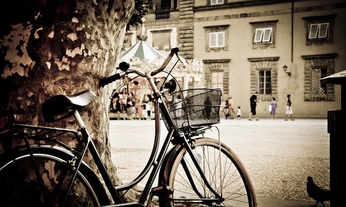Италия, велосипед, работа