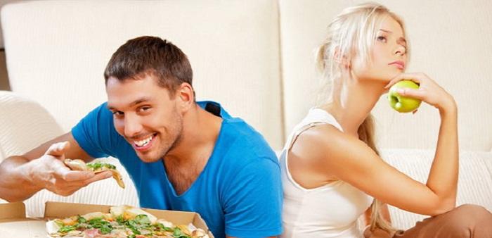 мъже, жени, диета