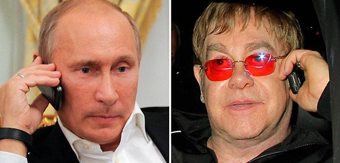Владимир Путин, Елтън Джон