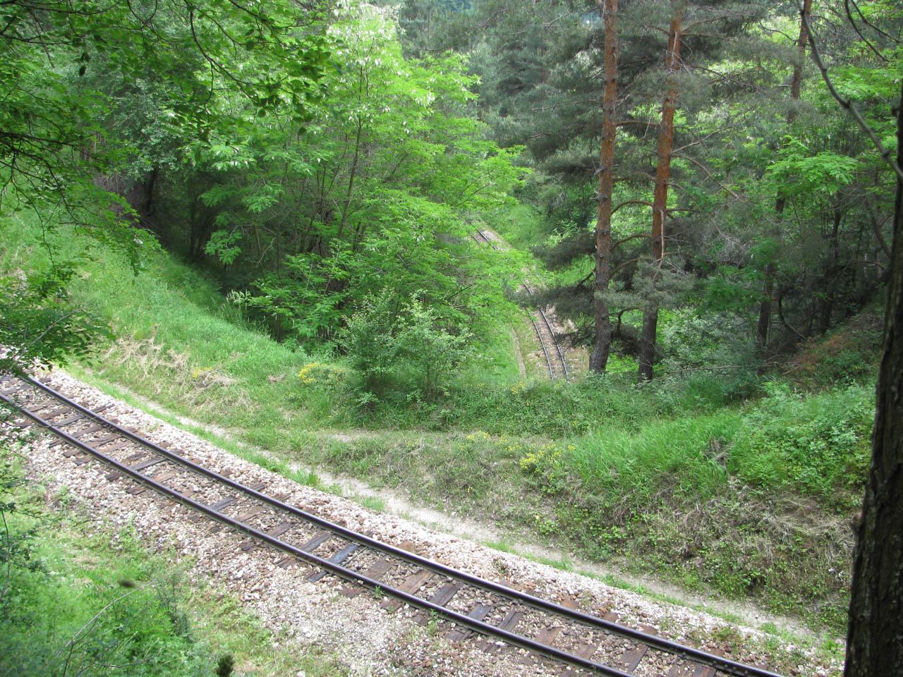 теснолинейка, влак, жп линия, Септември, Добринище, Велинград