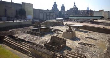 templo mayor, тунел в пирамида, Мексико, археолози