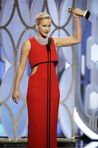 Golden Globe Jennifer Lawrence, Дженифър Лоурънс, златен глобус