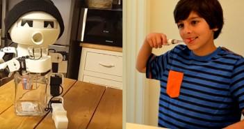 робот пияница и четка за зъби с видеоигри, джаджи, изобретения