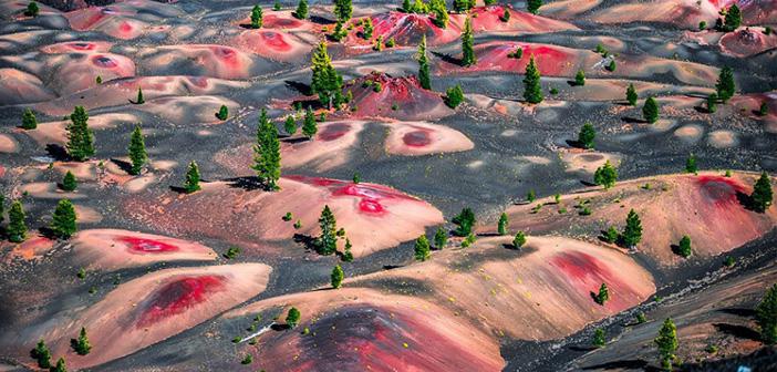 Цветни дюни, Lassen Volcanic National Park, САЩ