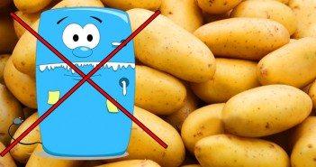 Съхраняване на картофи в хладилник. Да или не?