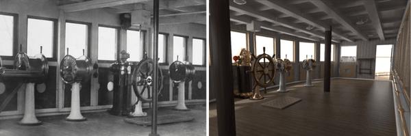 """Заради навлязлата модернизация тази зала в новия """"Титаник"""" няма да служи за управление, а само за декор"""