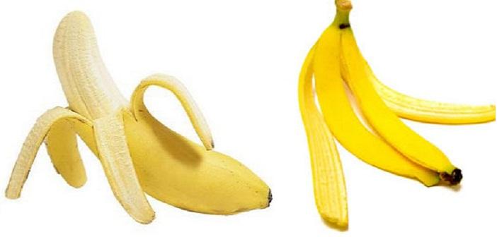 банан, бананова кора, акне