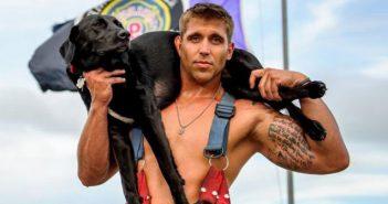 акция, календар, пожарникари, кученца