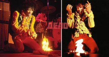 Jimi Hendrix, Отблясъци, Джими Хендрикс пали китарата си