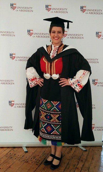Гергана Иванова завършила университет в Шотландия