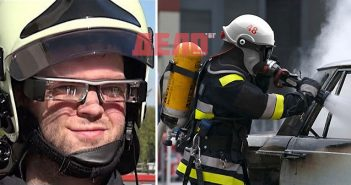 пожарникари, пожарникарите да виждат през дима, каска