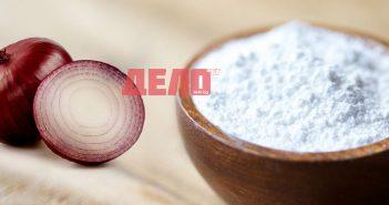 лек за шипове с лук и пудра захар