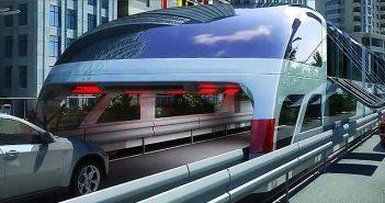 автобусът на бъдещето - Transit Elevated Bus