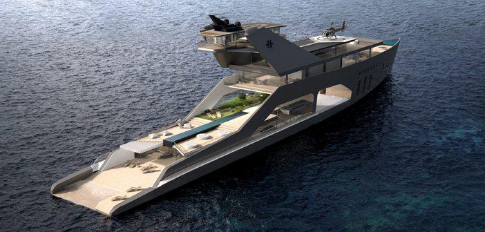 футуристична яхта-хотел