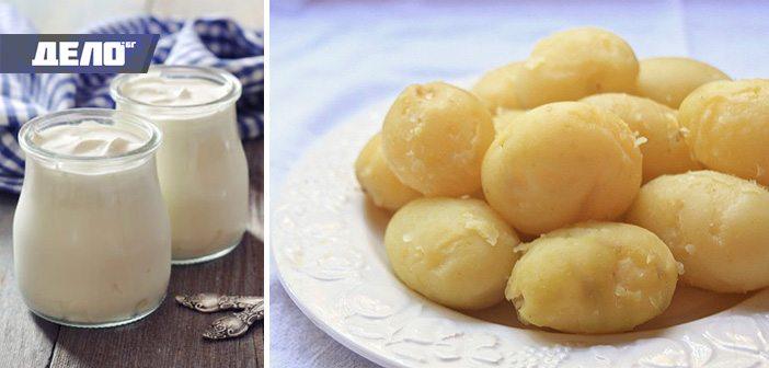 диета с кисело мляко и картофи