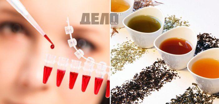 пийте чай според вашата кръвна група