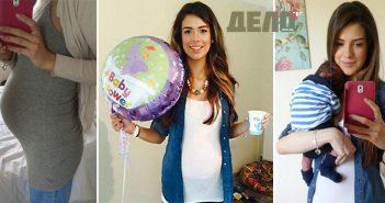 Млада жена роди, въпреки че повръща след всяко ядене