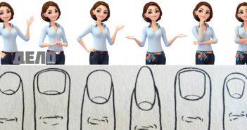 характерът според формата на Вашите нокти