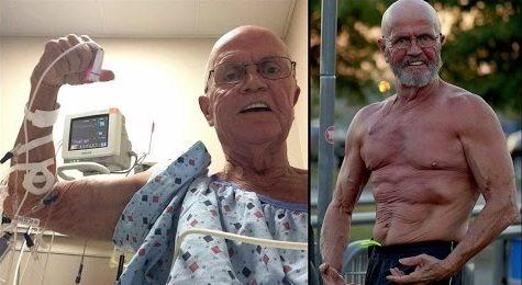 мъж бори рака с тренировки