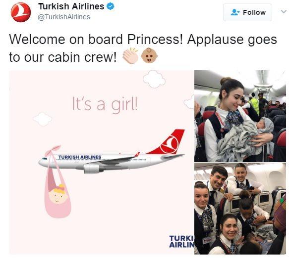 стюардеси изродиха бебе на борда