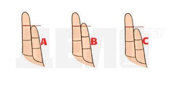 пръстите определят характера