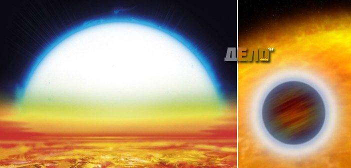 KELT-9b има метално небе, от което вали лава