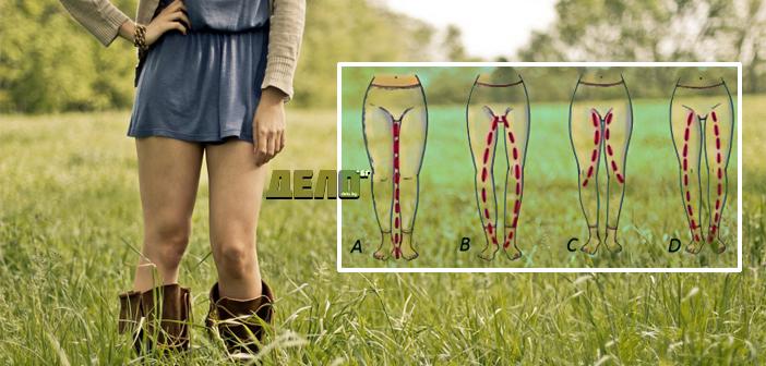 Тип жена според формата на краката