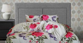 Пролетно спално бельо с растителни мотиви